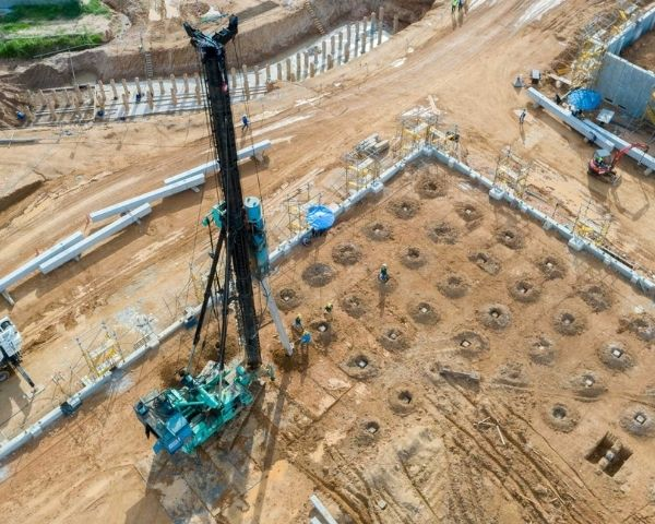 bird eye view for  construction drone photography in lilydale melbourne