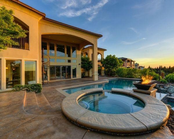 beautiful house drone photo