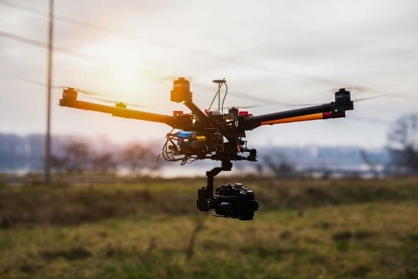 expensive gimbal drone photography video recording aerial