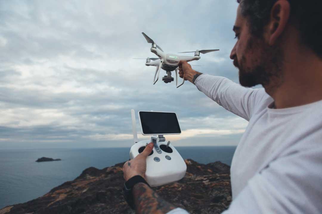 professional drone pilot by port phollip bay melbourne