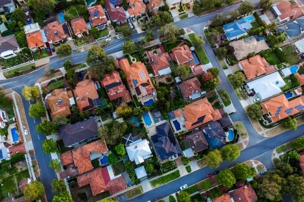 house real estate drone photography in melbourne bayside area
